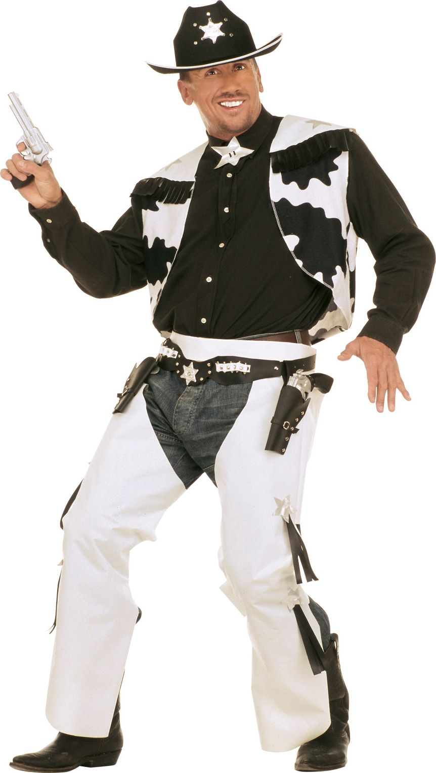 Cowboy Kostuum koehuid