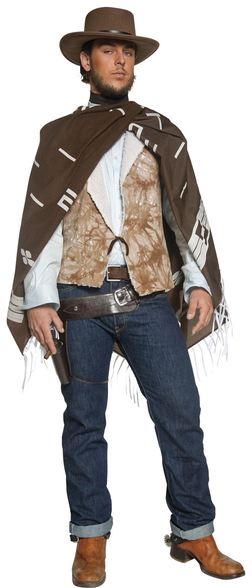 Cowboy poncho mannen