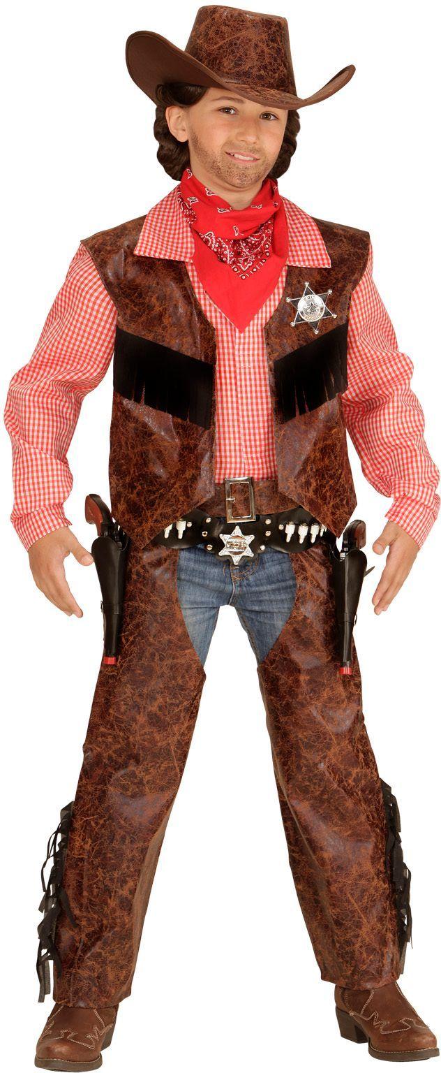 Cowboy uit wilde westen kind