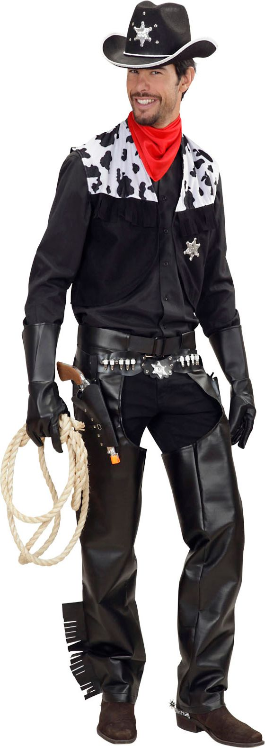 Cowboy zwart kostuum