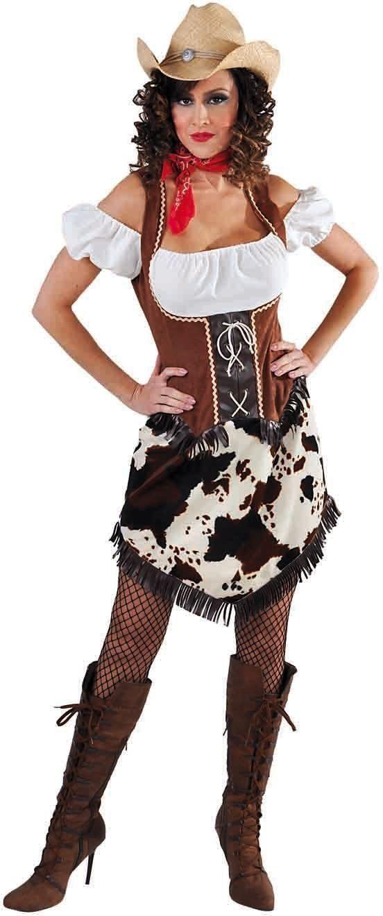 Cowgirl koeprint kostuum dames