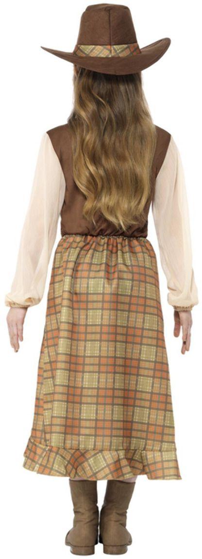 Cowgirl meisjes kostuum bruin