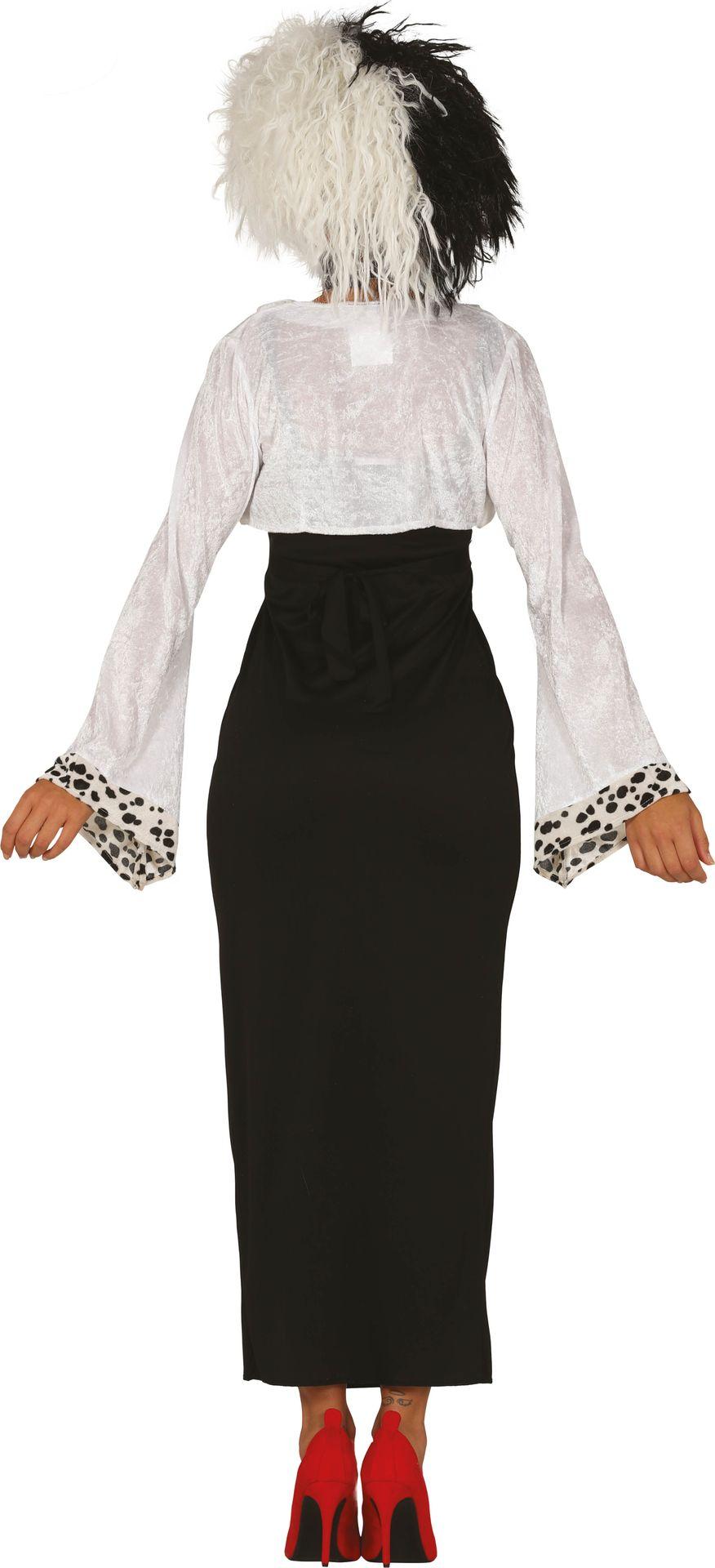 Cruella de Vil jurk dalmatiërs vrouwen