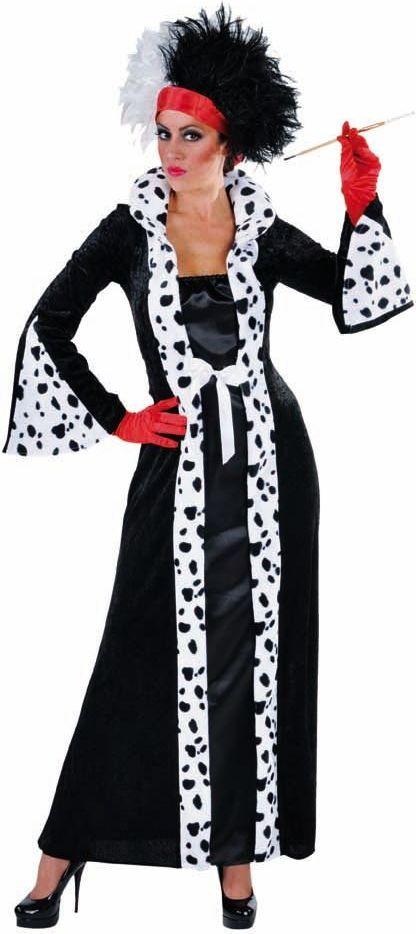 Cruella de vil kostuum dames