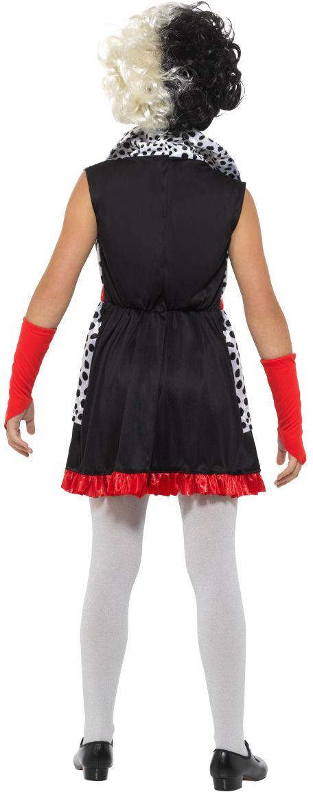 Cruella de Vil meisjes kostuum