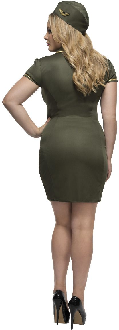 Curvy groene leger outfit
