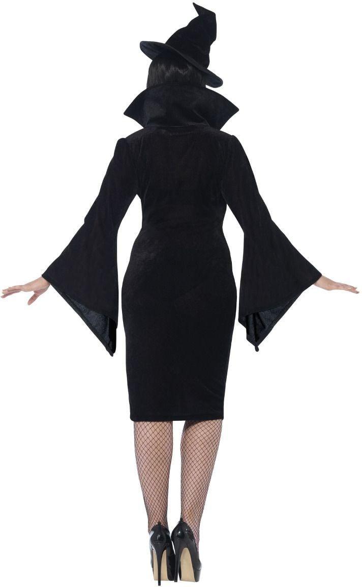 Curvy heksen jurkje zwart