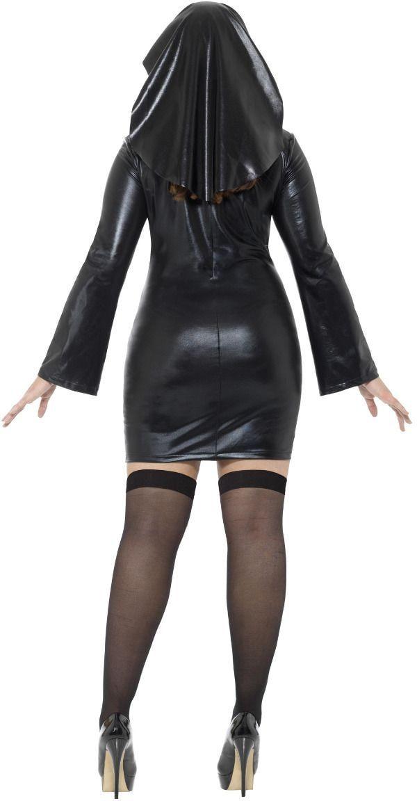 Curvy nonnen jurkje latex