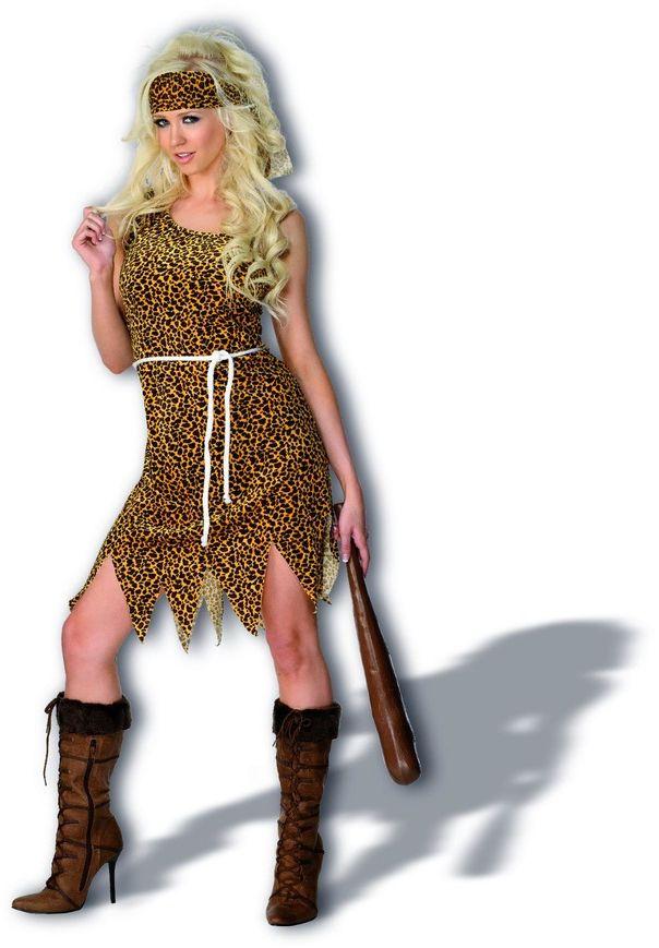 Dames holbewoner kostuum
