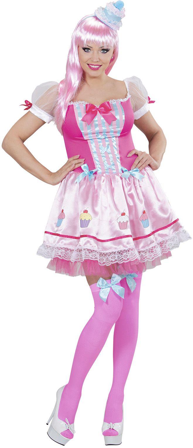 Dames Snoep kostuum Roze