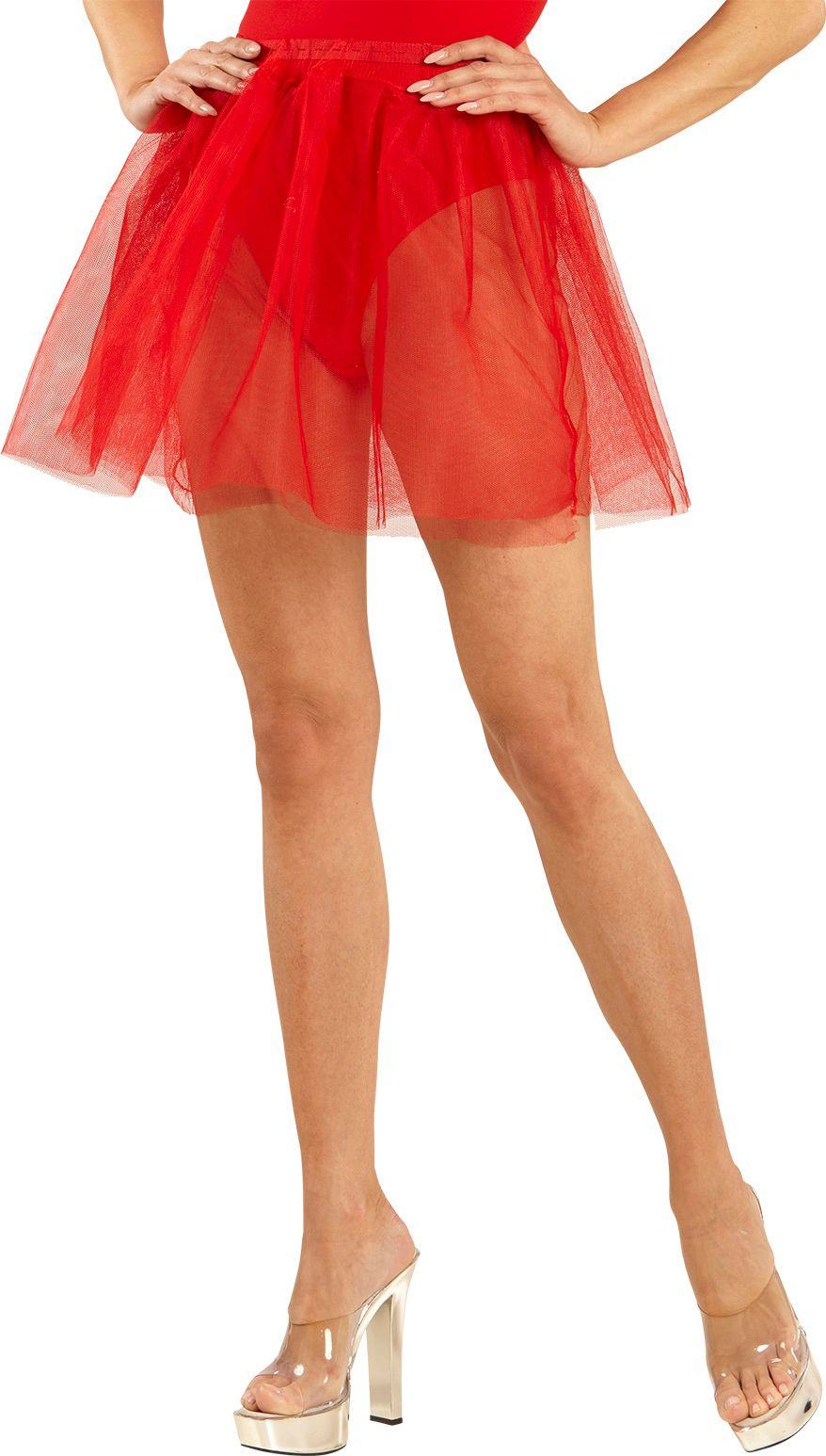 Danseres petticoat rood One-size-volwassenen