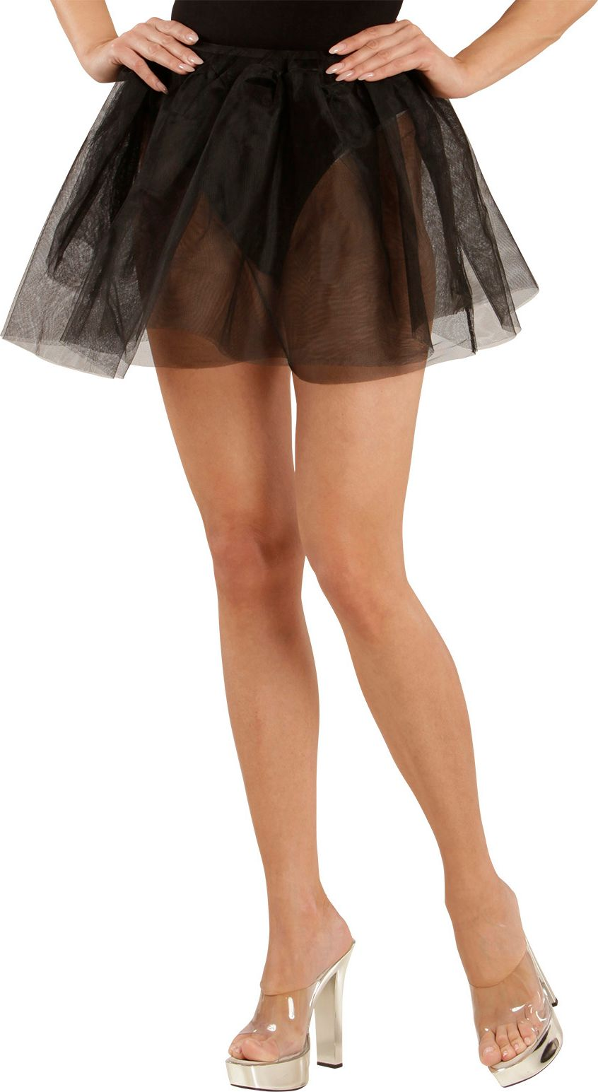 Danseres petticoat zwart One-size-volwassenen