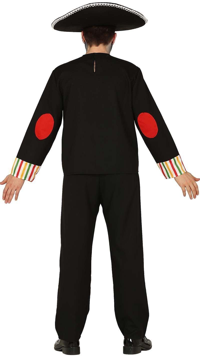 Dia de los muertos kostuum zwart