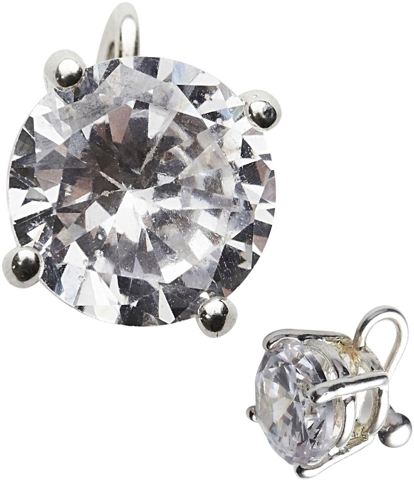 Diamant oorbel