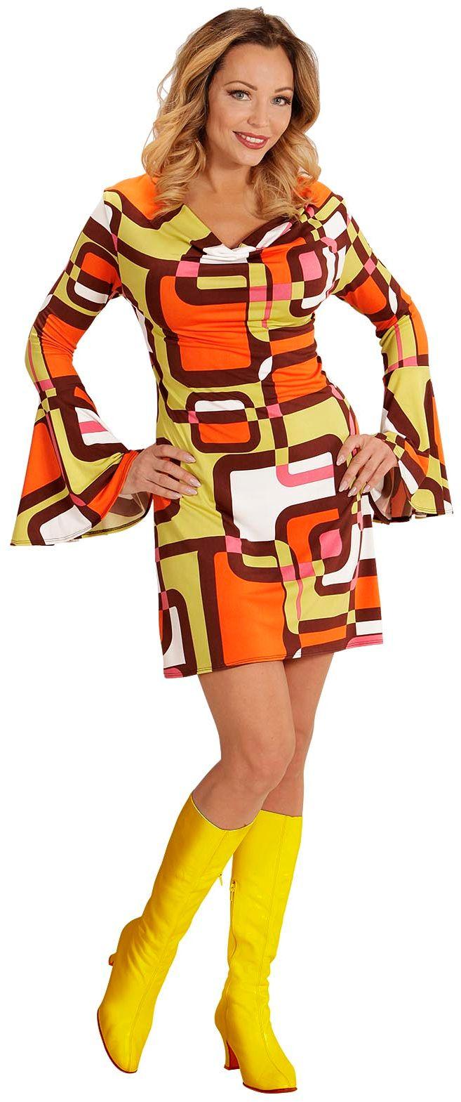Disco jaren 70 jurk