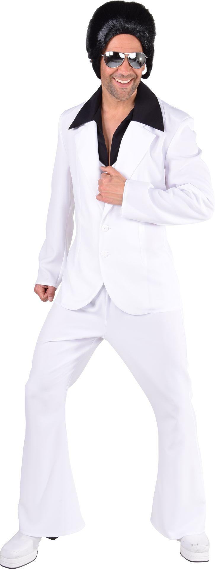 Disco kostuum wit mannen