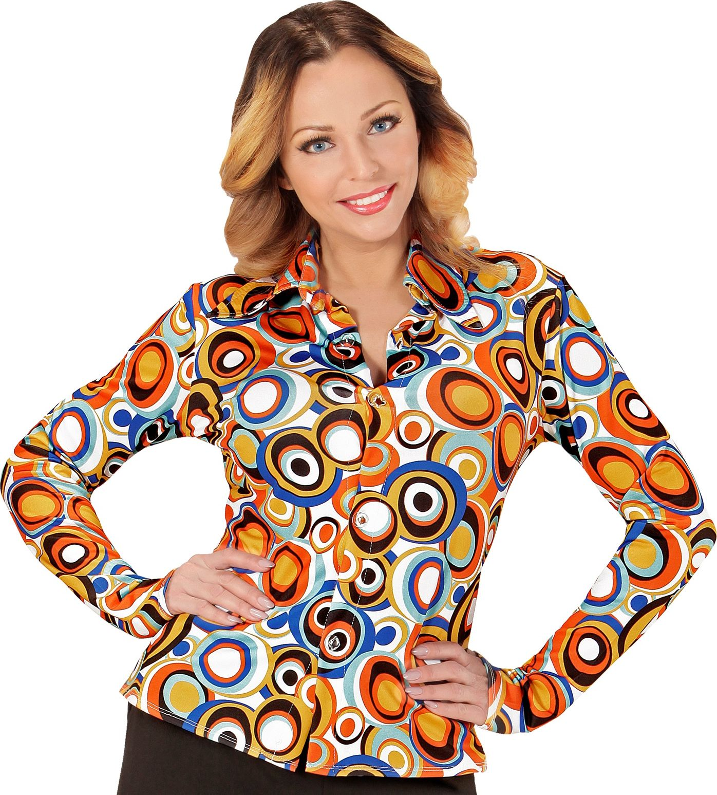Disco seventies shirt dames