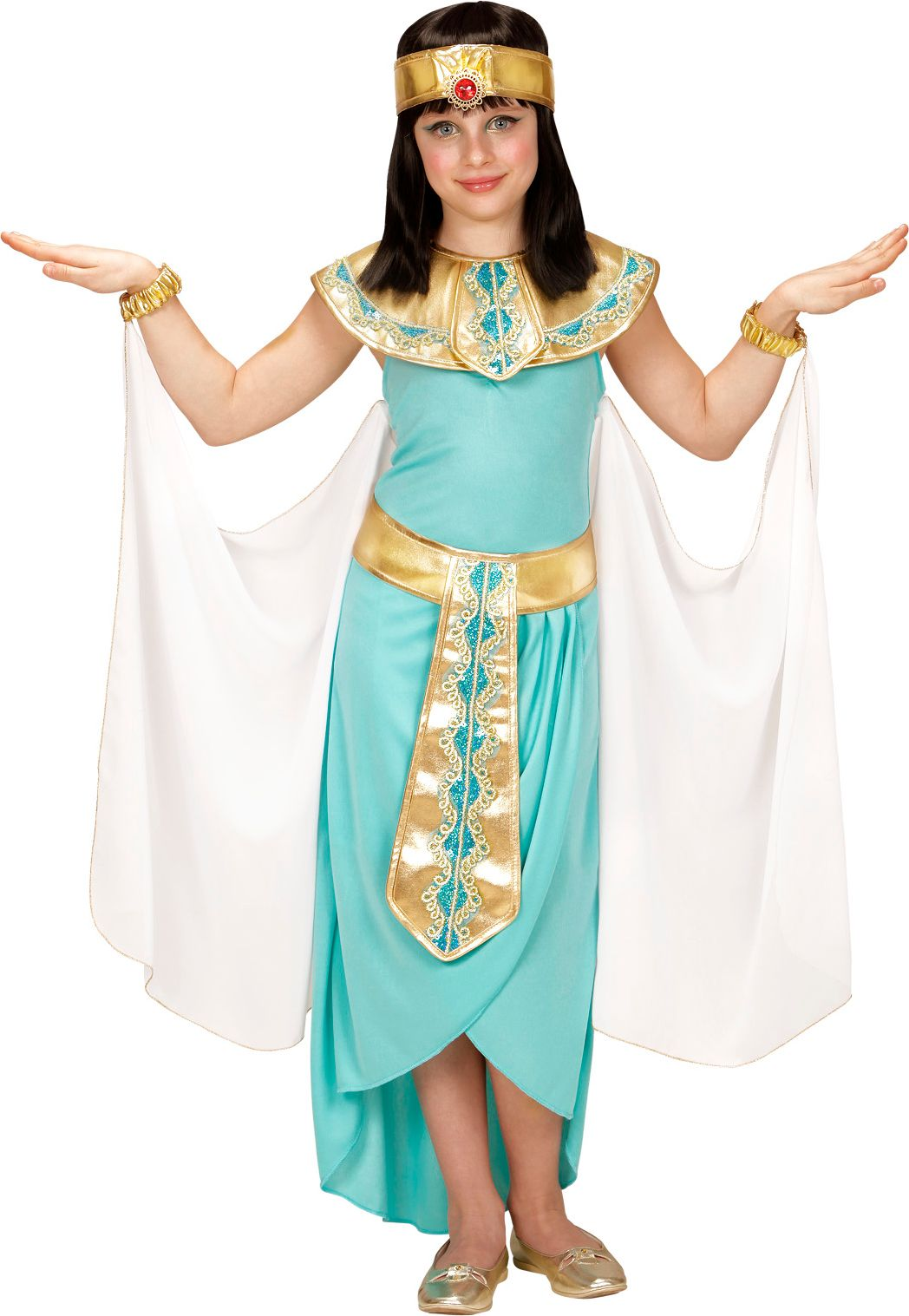 Dochter Cleopatra kostuum blauw