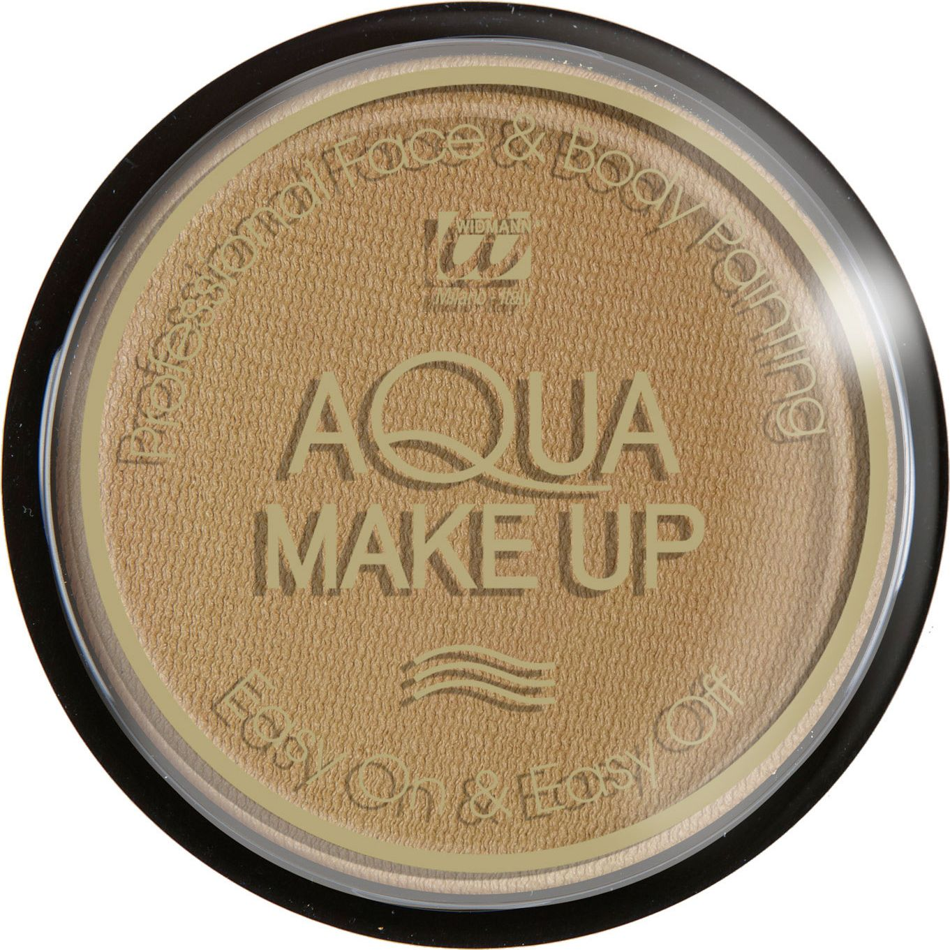Donker beige aqua make-up