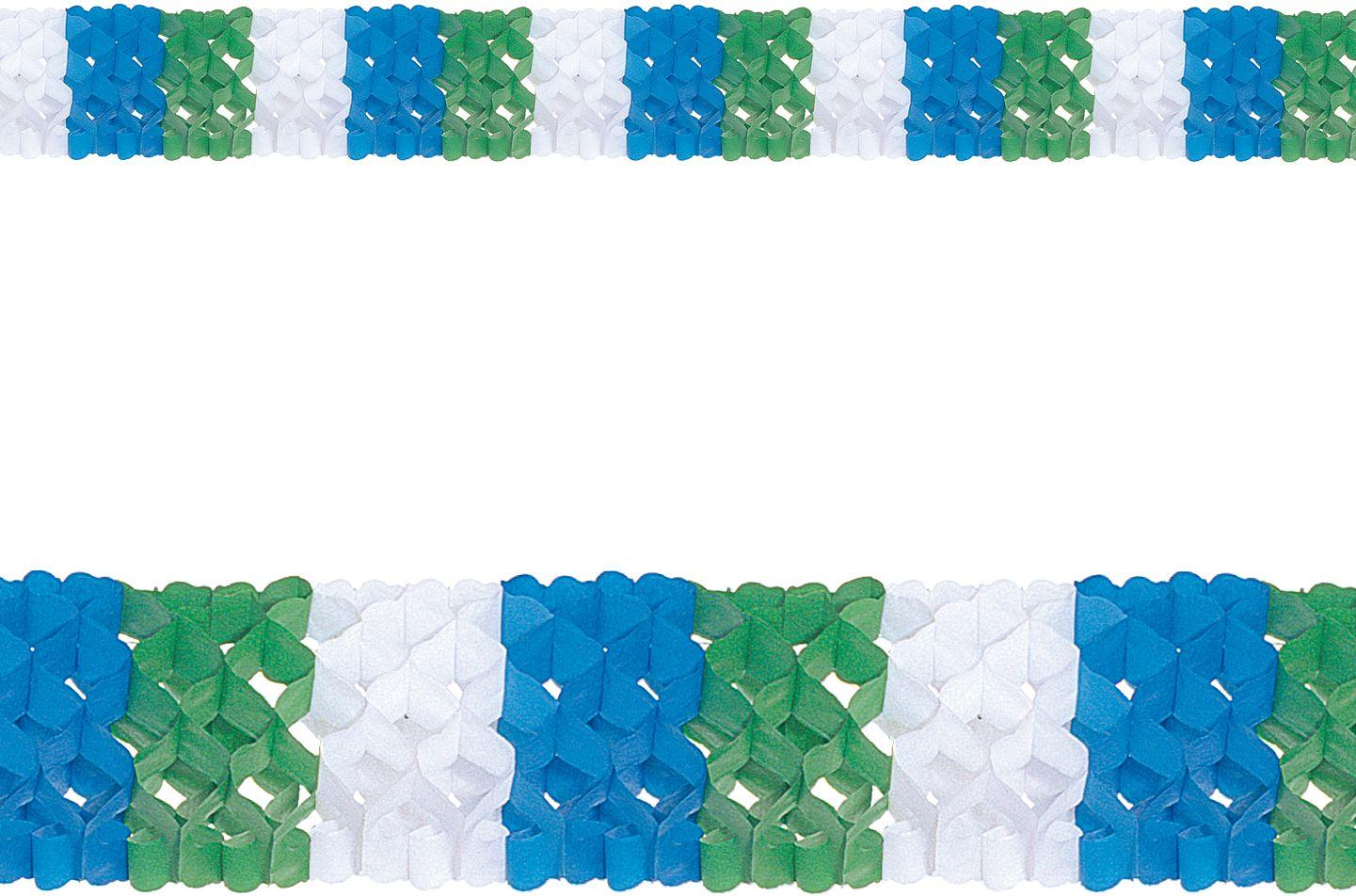 Driekleurige papieren guirlande