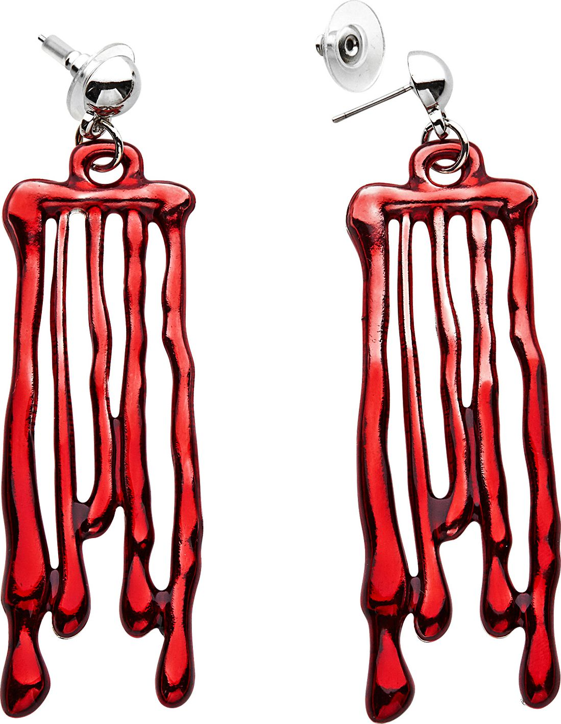 Druppelend bloed oorbellen dames