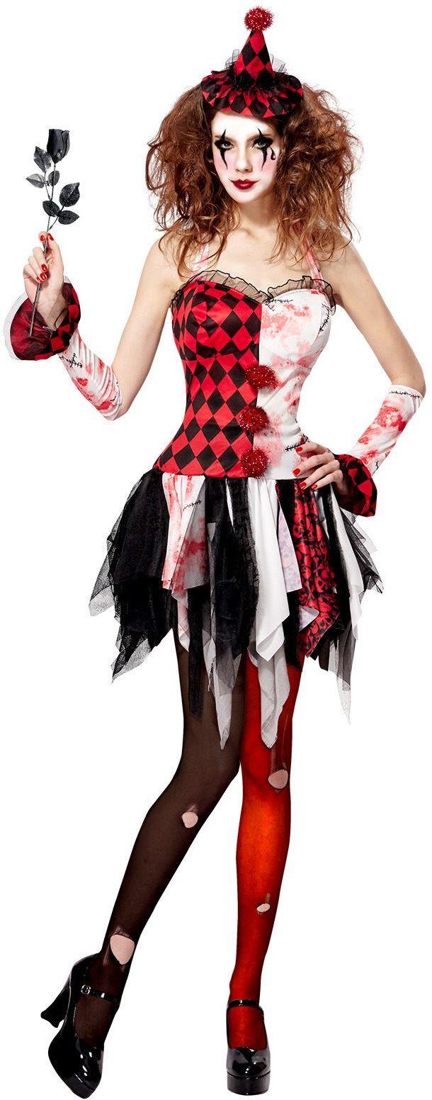 Duistere harlekijn kostuum