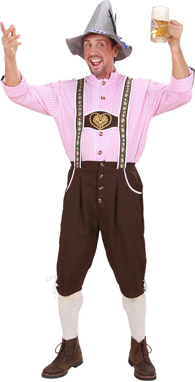 Duitse lederhose met blouse kostuum