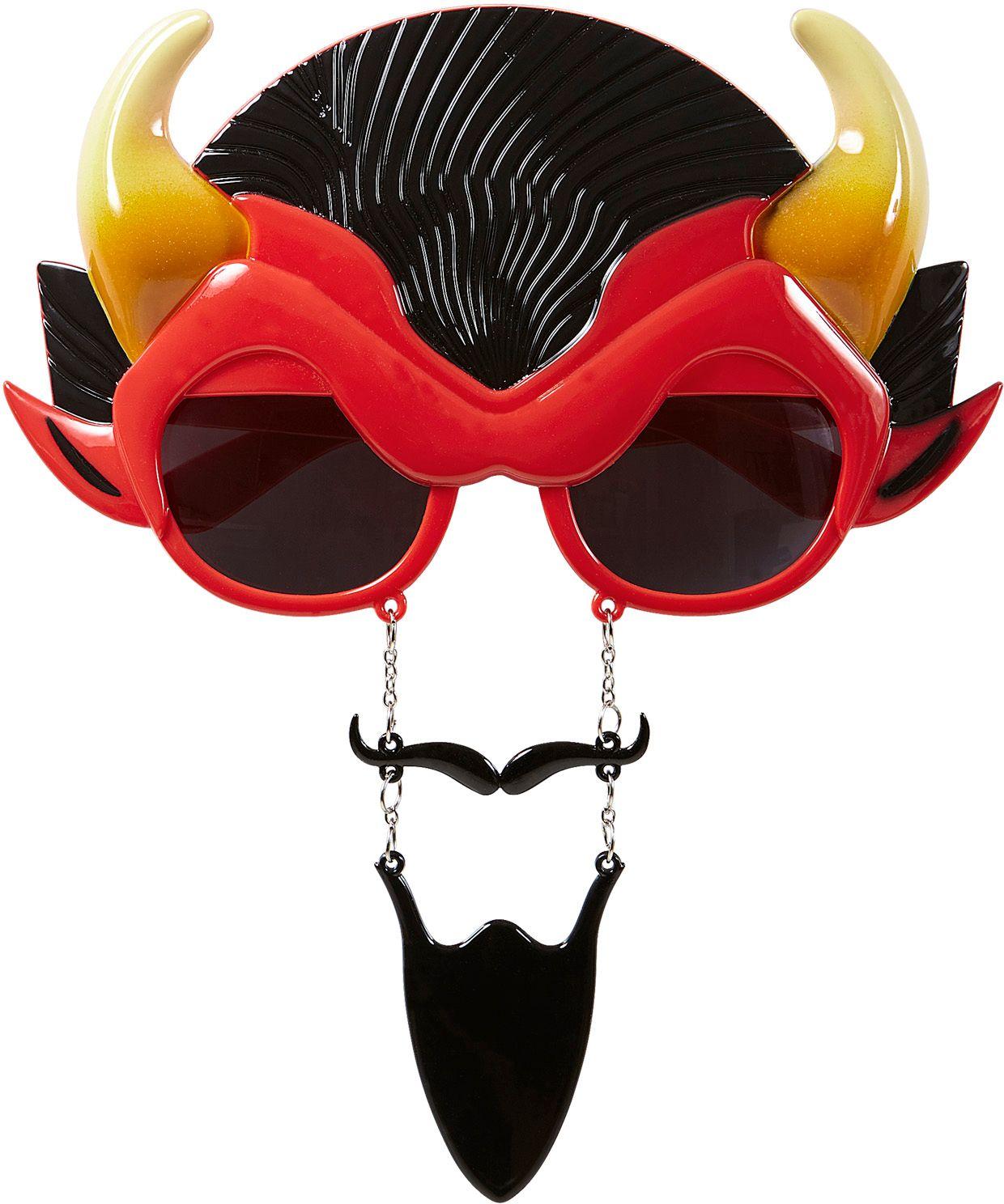 Duivel bril met snor en sik