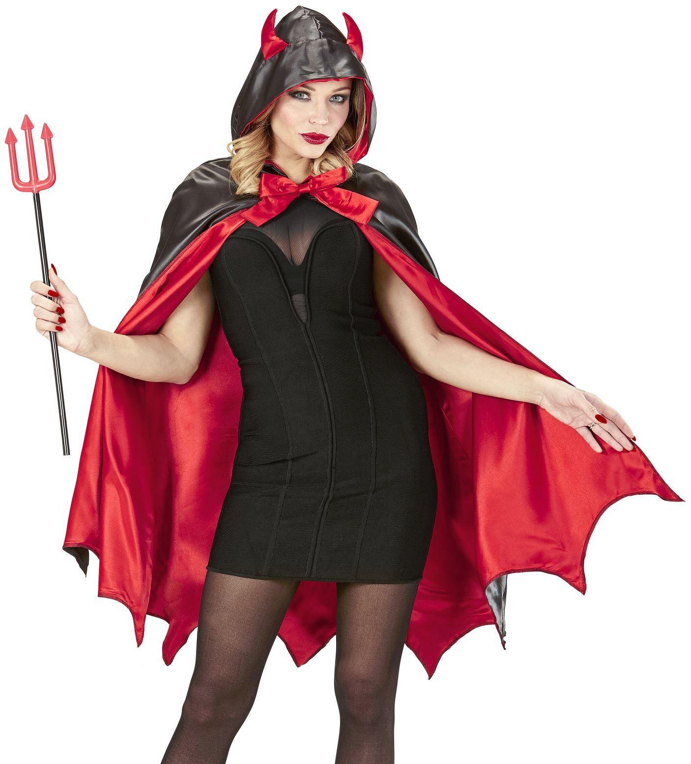 Duivel cape met muts