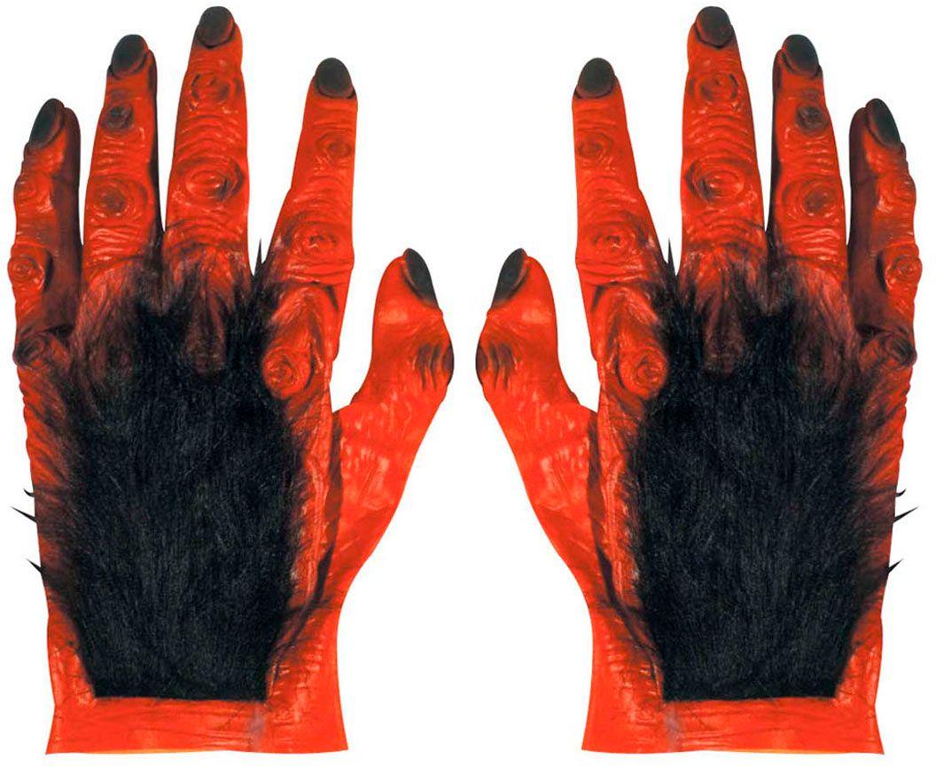 Duivel handen met haar