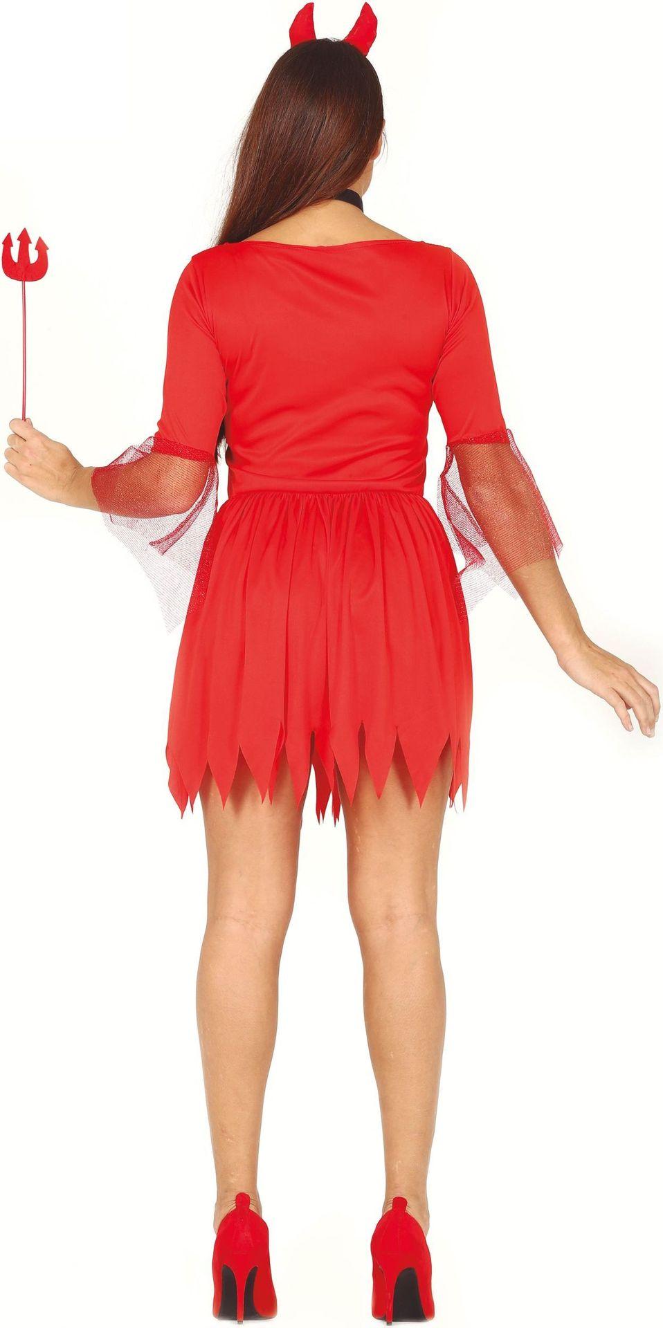 Duivel jurkje met pailletten