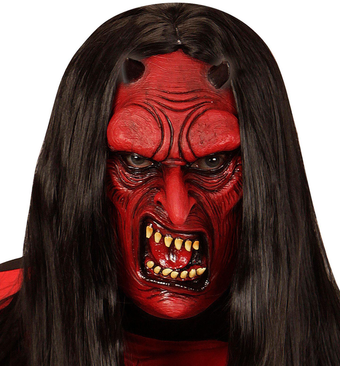 Duivel masker rood kind