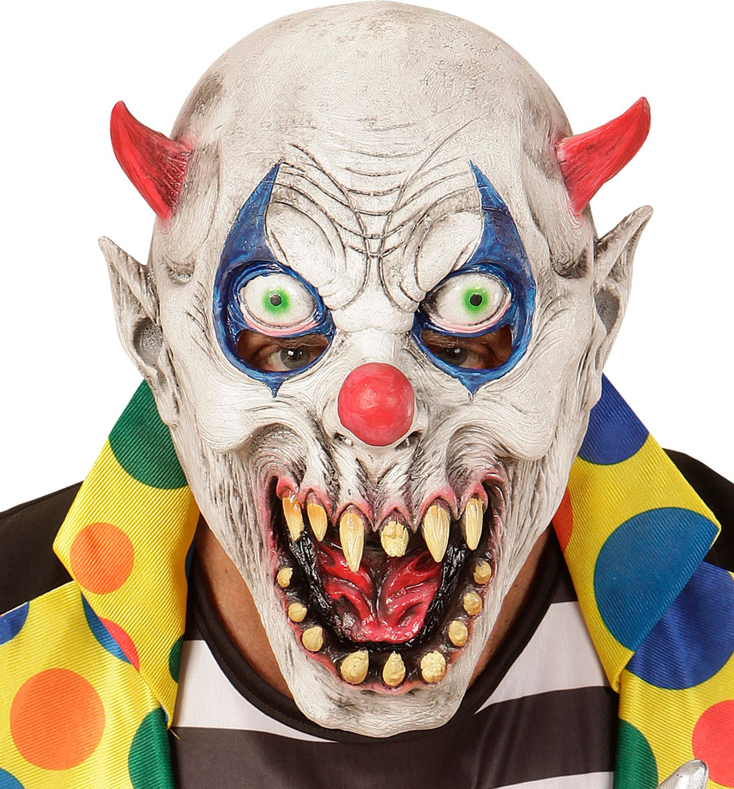 Duivels clown masker kind