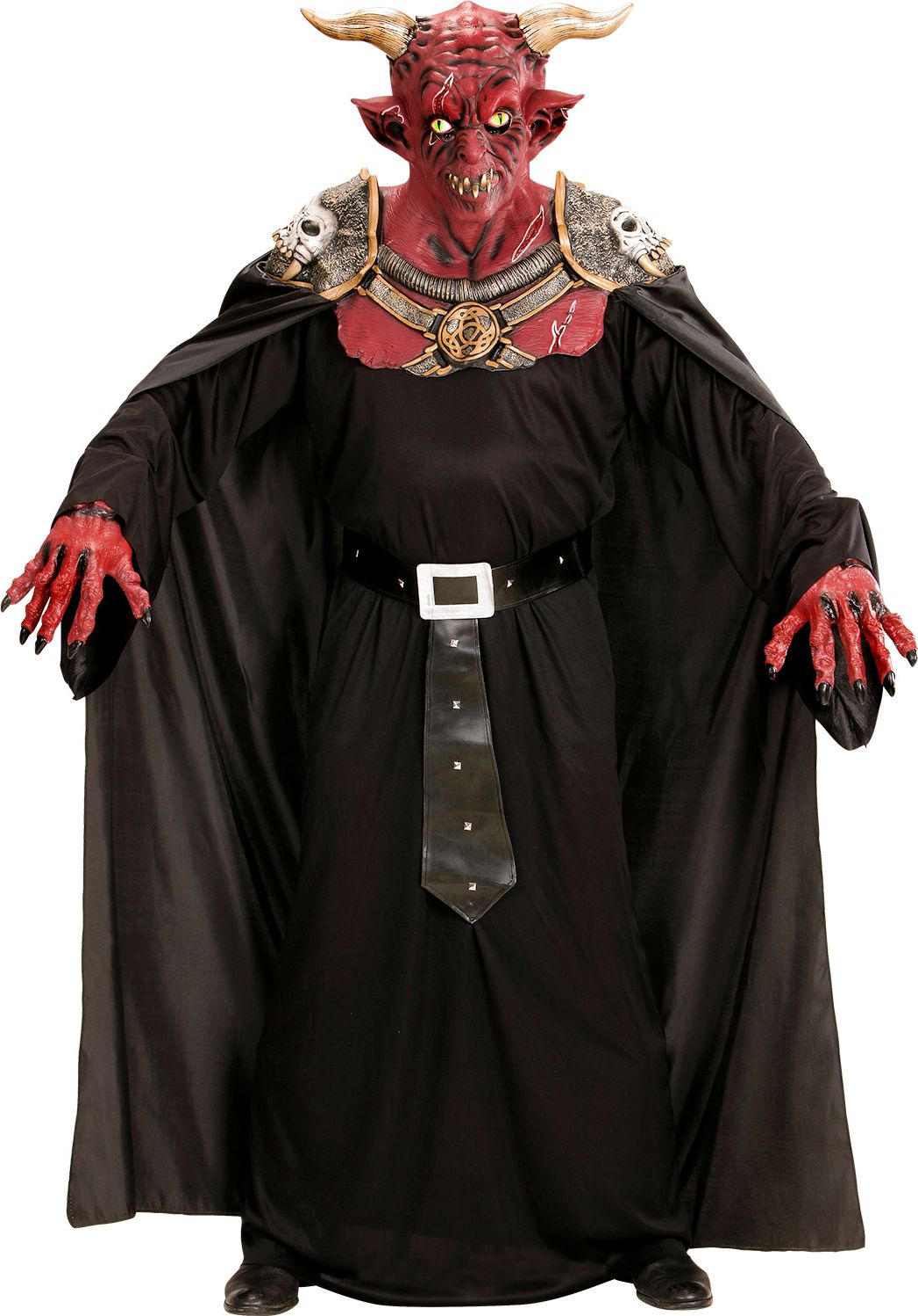 Duivelse krijger masker met cape One-size-volwassenen