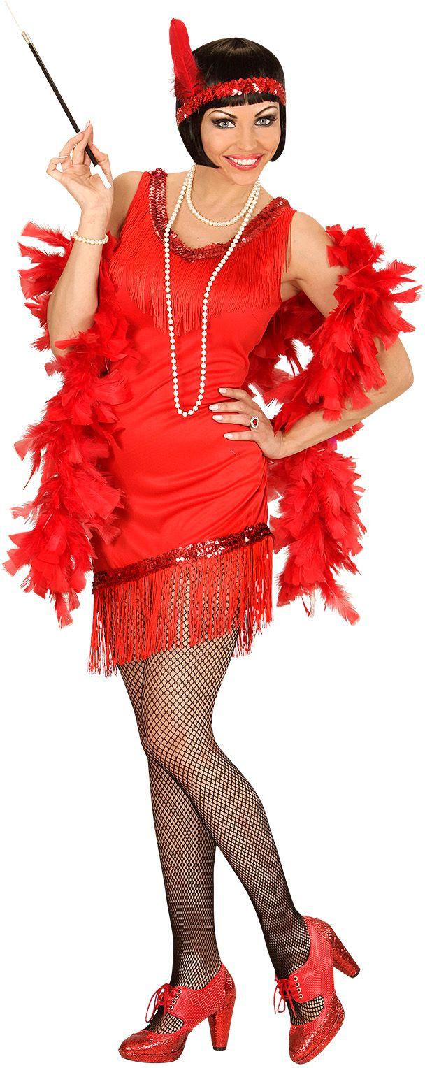 Elegante flapper jurk rood