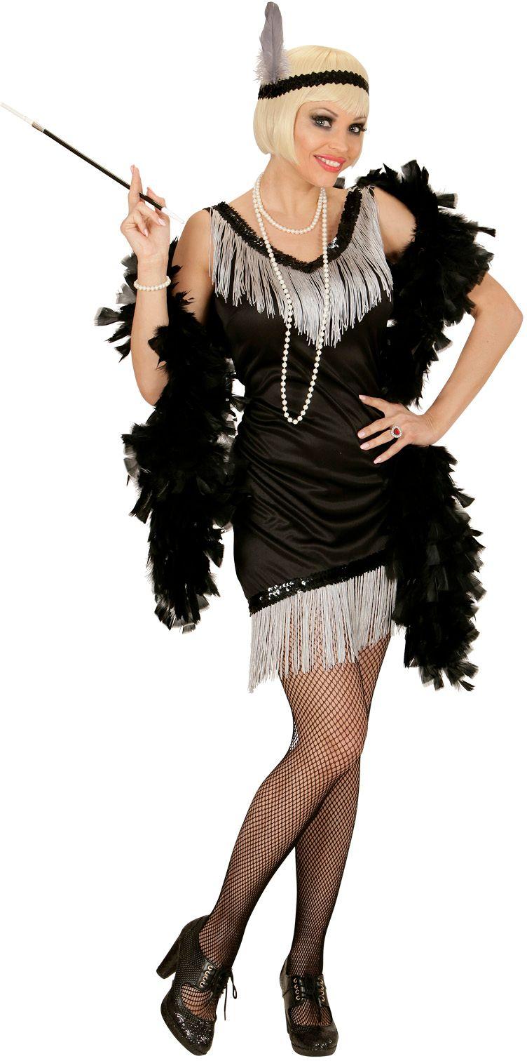Elegante flapper jurk zwart