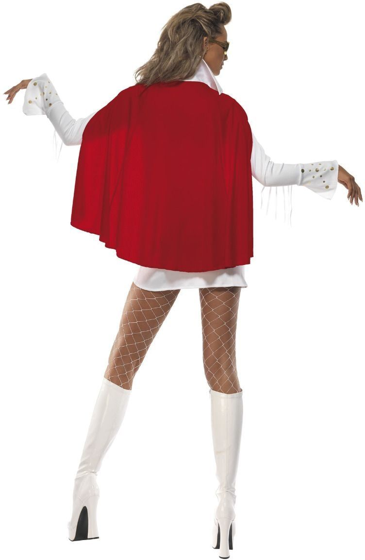 Elvis Las Vegas dames kostuum wit