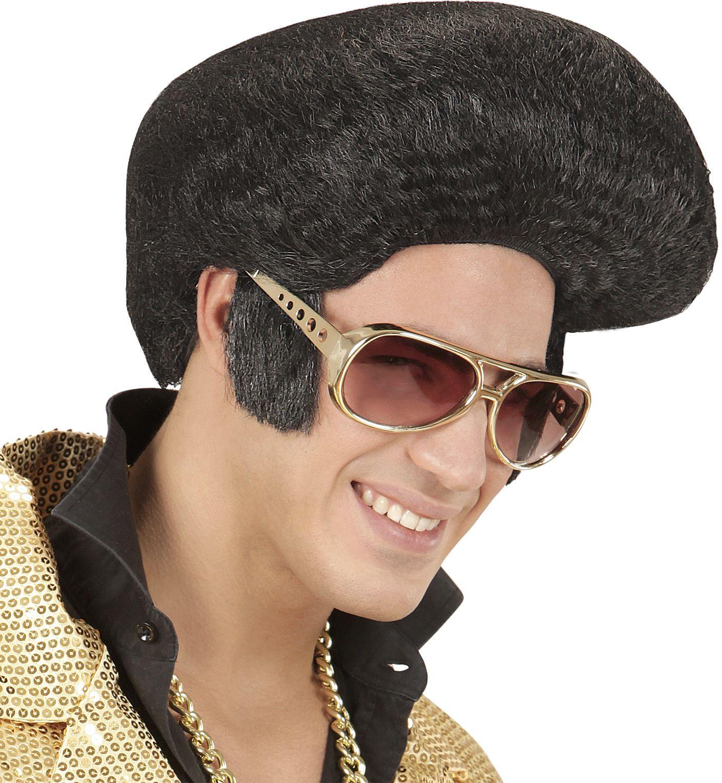 Elvis presley pruik zwart