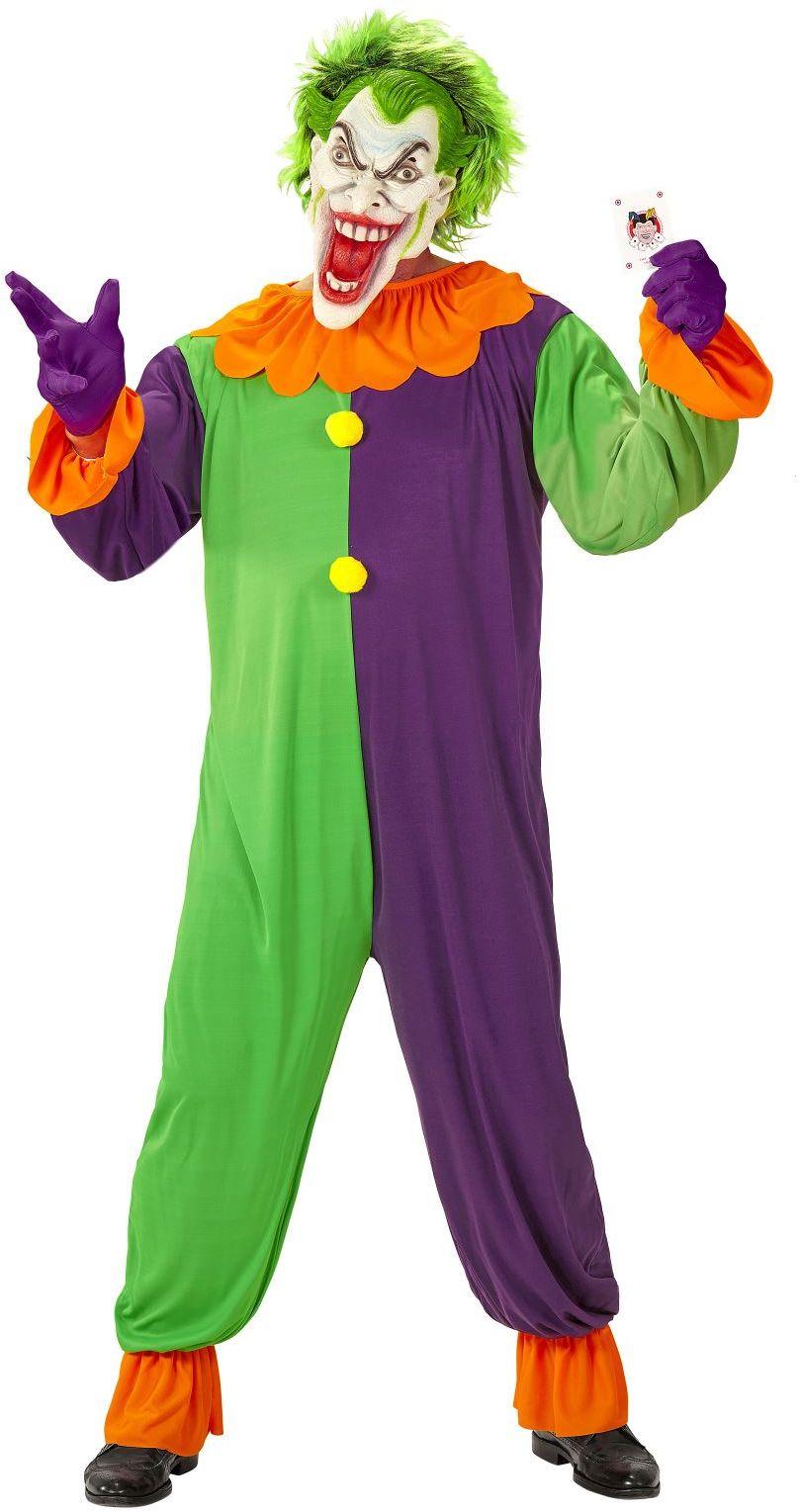 Enge clown kostuum