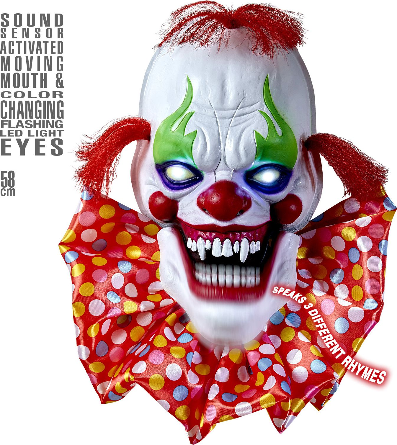 Enge horror clown decoratie