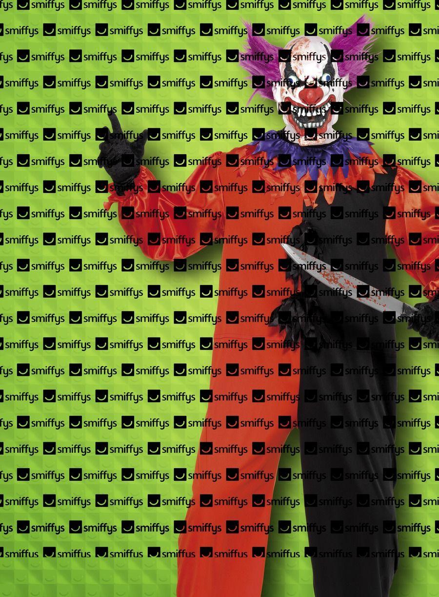 Enge killer clown zwart rood pak