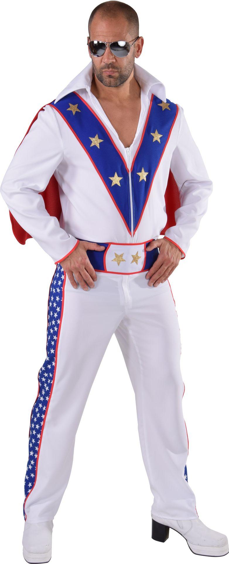 Evel Knievel stunt kostuum mannen