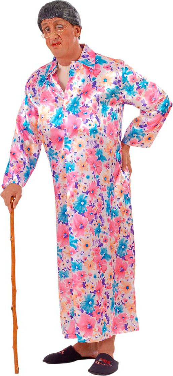 Exhibitionist satijn kostuum