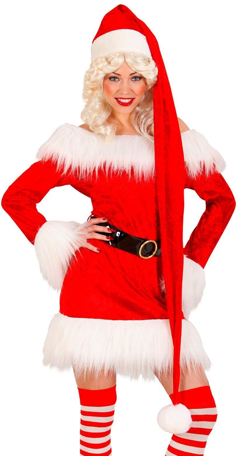 Extra lange kerstman muts