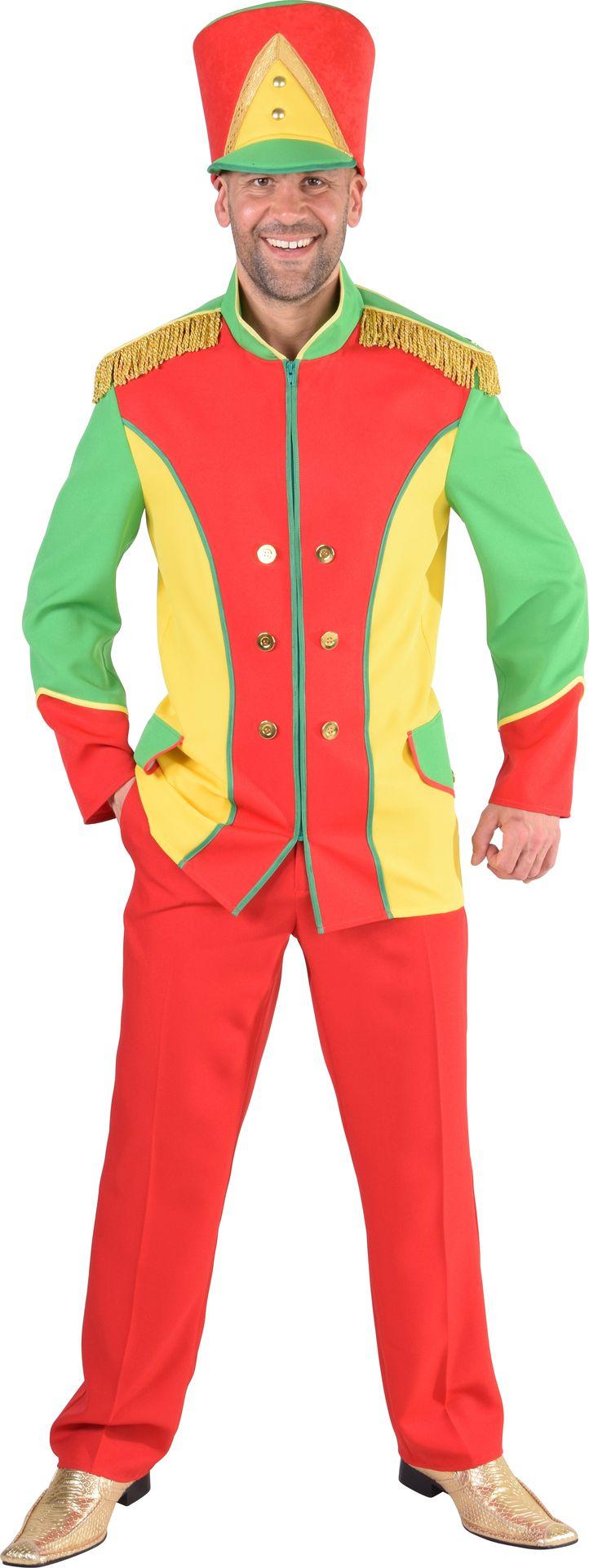 Fanfare jas rood, geel en groen mannen
