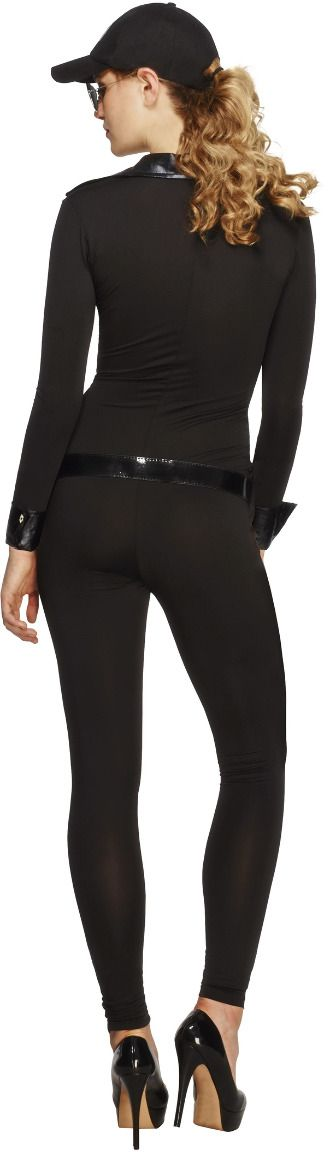 FBI zwarte catsuit