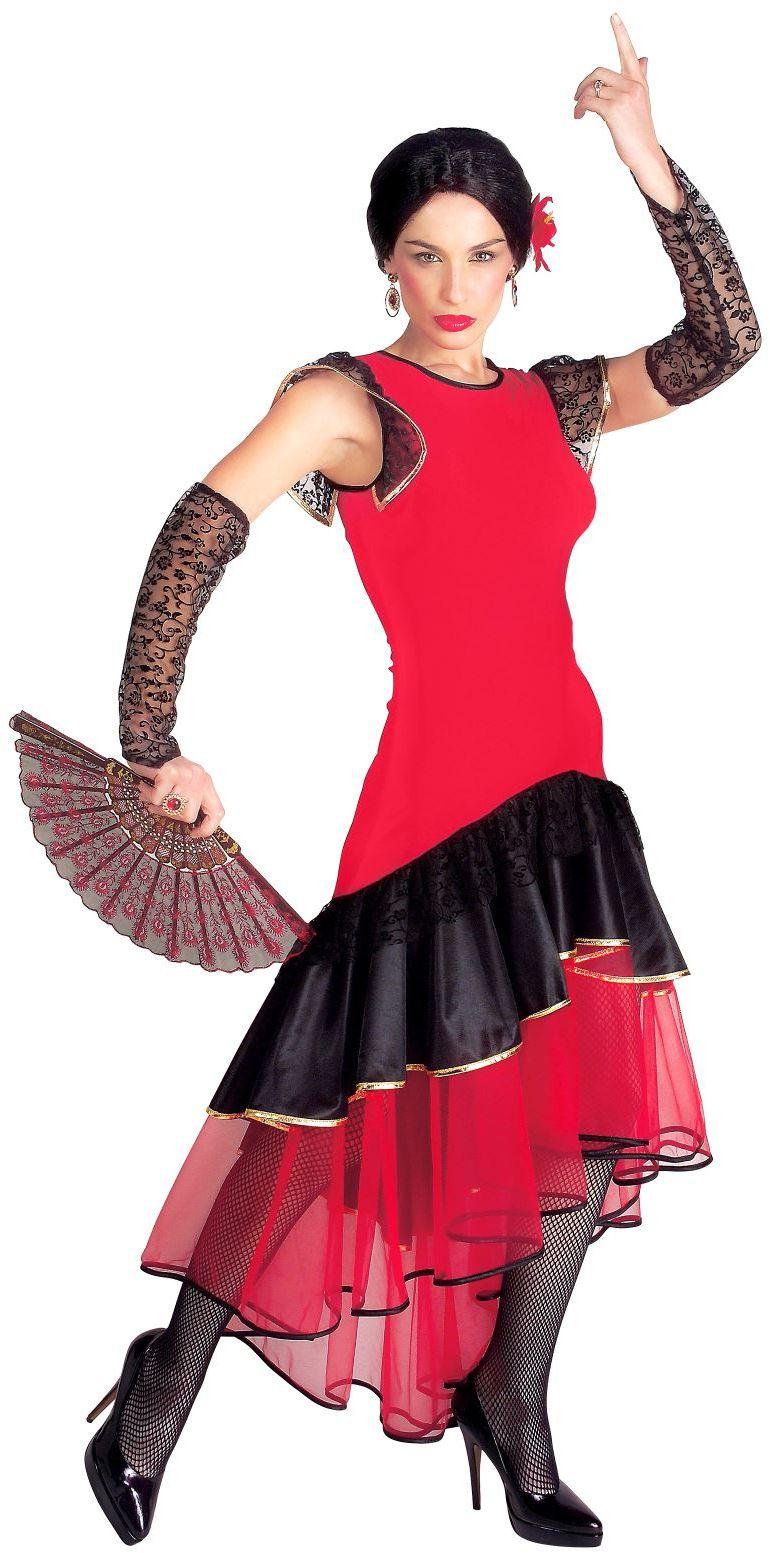 Flamenco danser kostuum rood