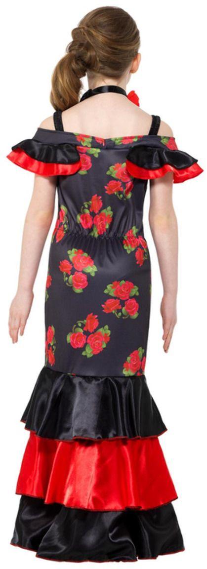 Flamenco meisjes kostuum zwart rood