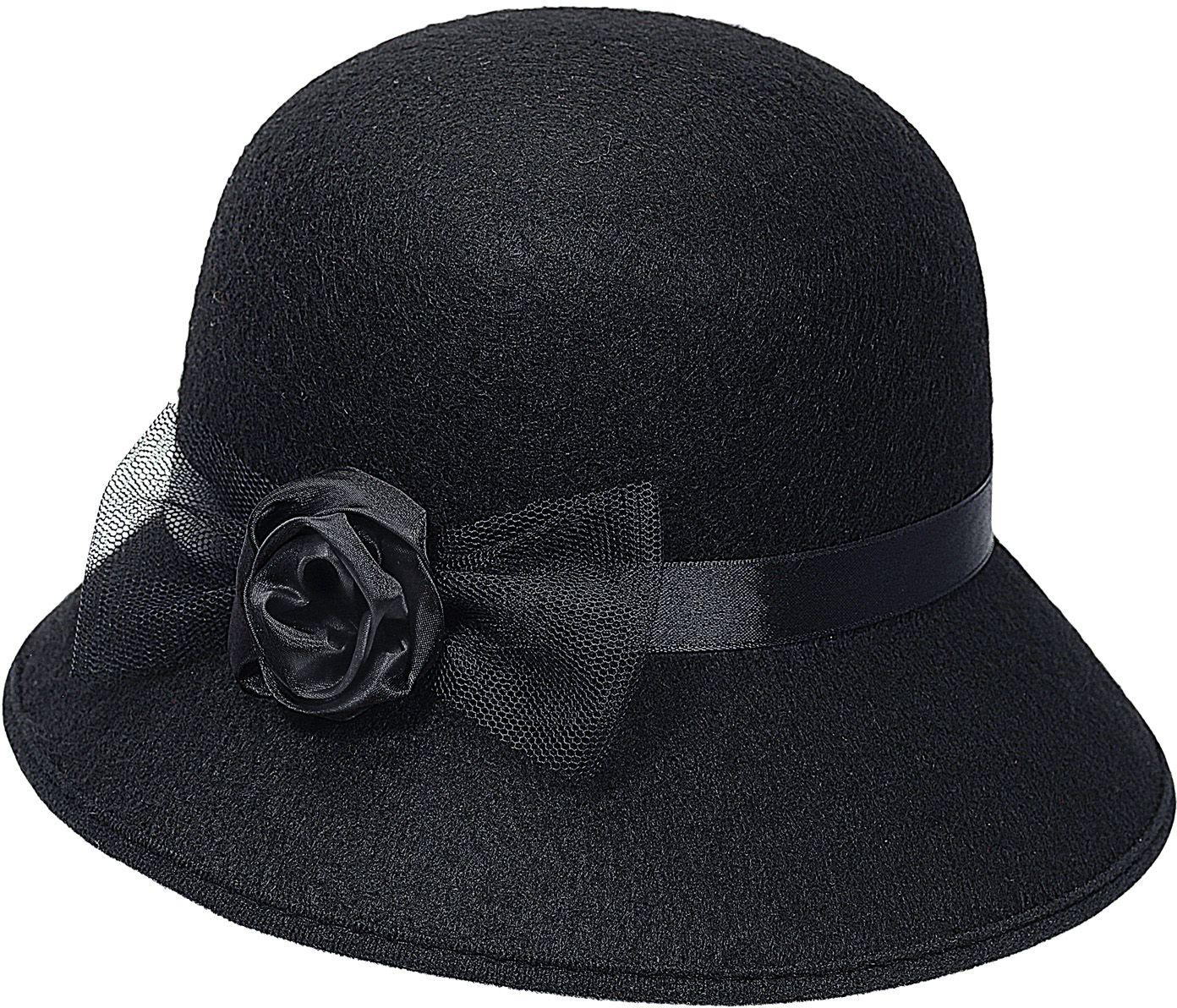 Flapper hoed zwart dames