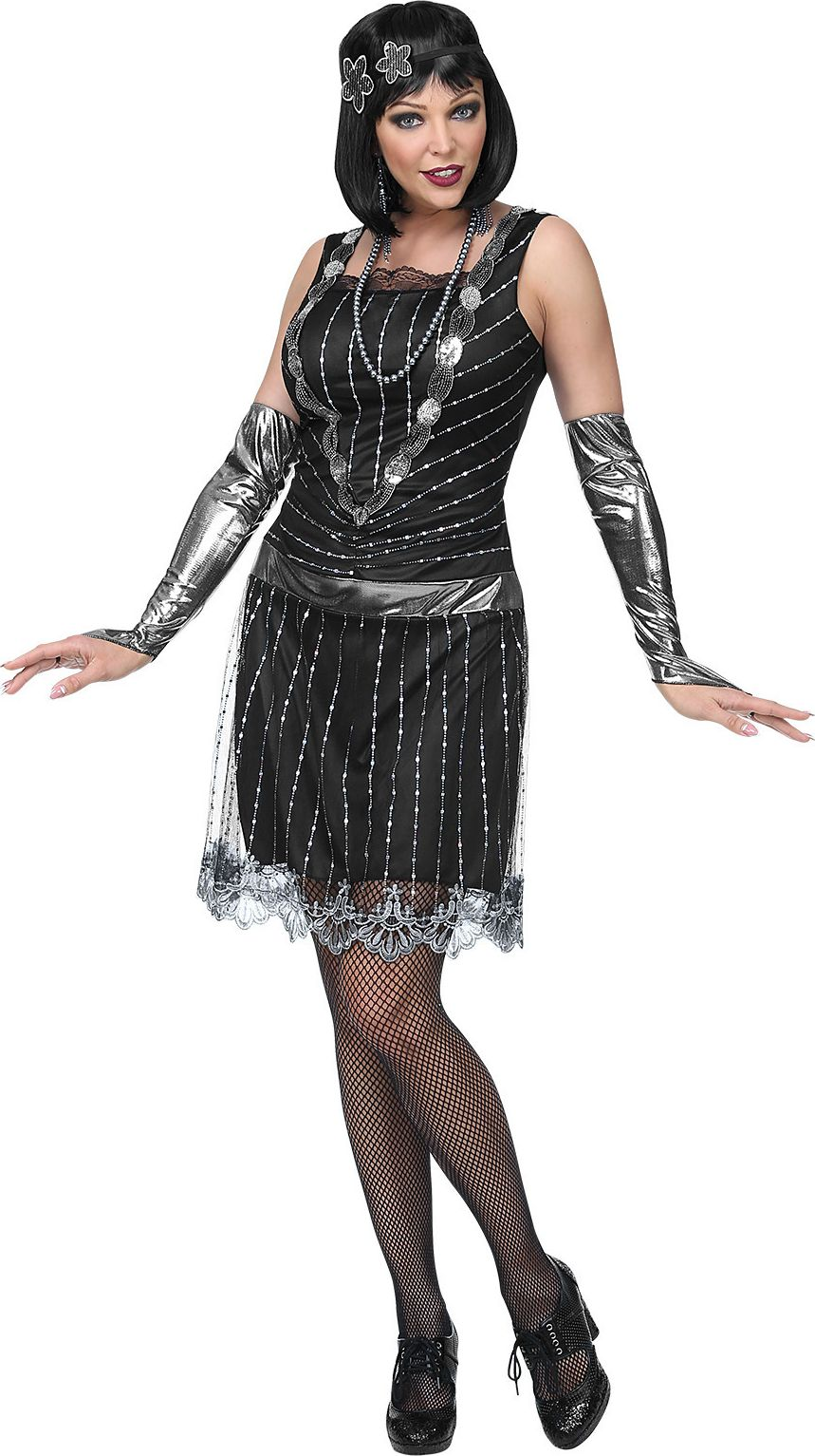 Flapper jurk 20s vrouw
